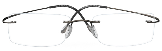 6ed6e67f282 IWG Titanium Flex Gunmetal Rimless Glasses