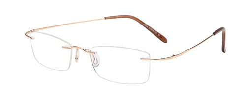 Emporium 7568 Gold Rimless Glasses