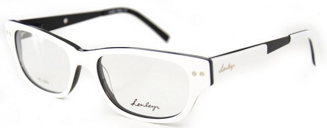 Henleys HL-060 White and Black Glasses