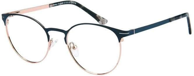 NewLenses Premium LC123 C2 Navy Gold Glasses