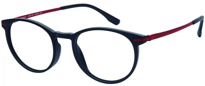 NewLenses Premium Titanium LC62 C2 Black Red Glasses
