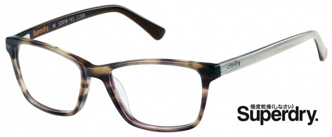 Superdry Jaime 103 Brown / Cream Glasses