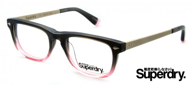 Superdry Riley Black Pink Prescription Glasses