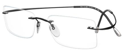 IWG Titanium Flex Black Rimless Glasses
