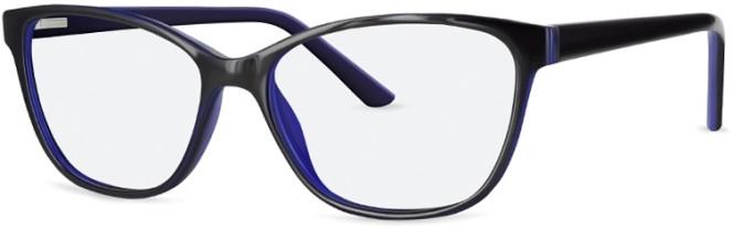 New Lenses ZP4055 C2 Black Blue Glasses