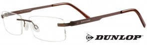 Dunlop D159-2 Bronze/Brown Titanium Rimless Glasses