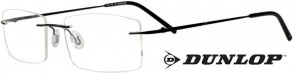 Dunlop D164-2 Black Rimless Glasses