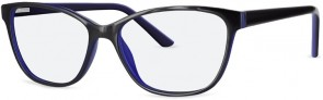 New Lenses ZP4055 C2 Black Blue Glasses